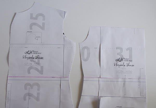 Rhapsody dress pattern hack