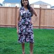 Sleeveless knee length Olympia Dress