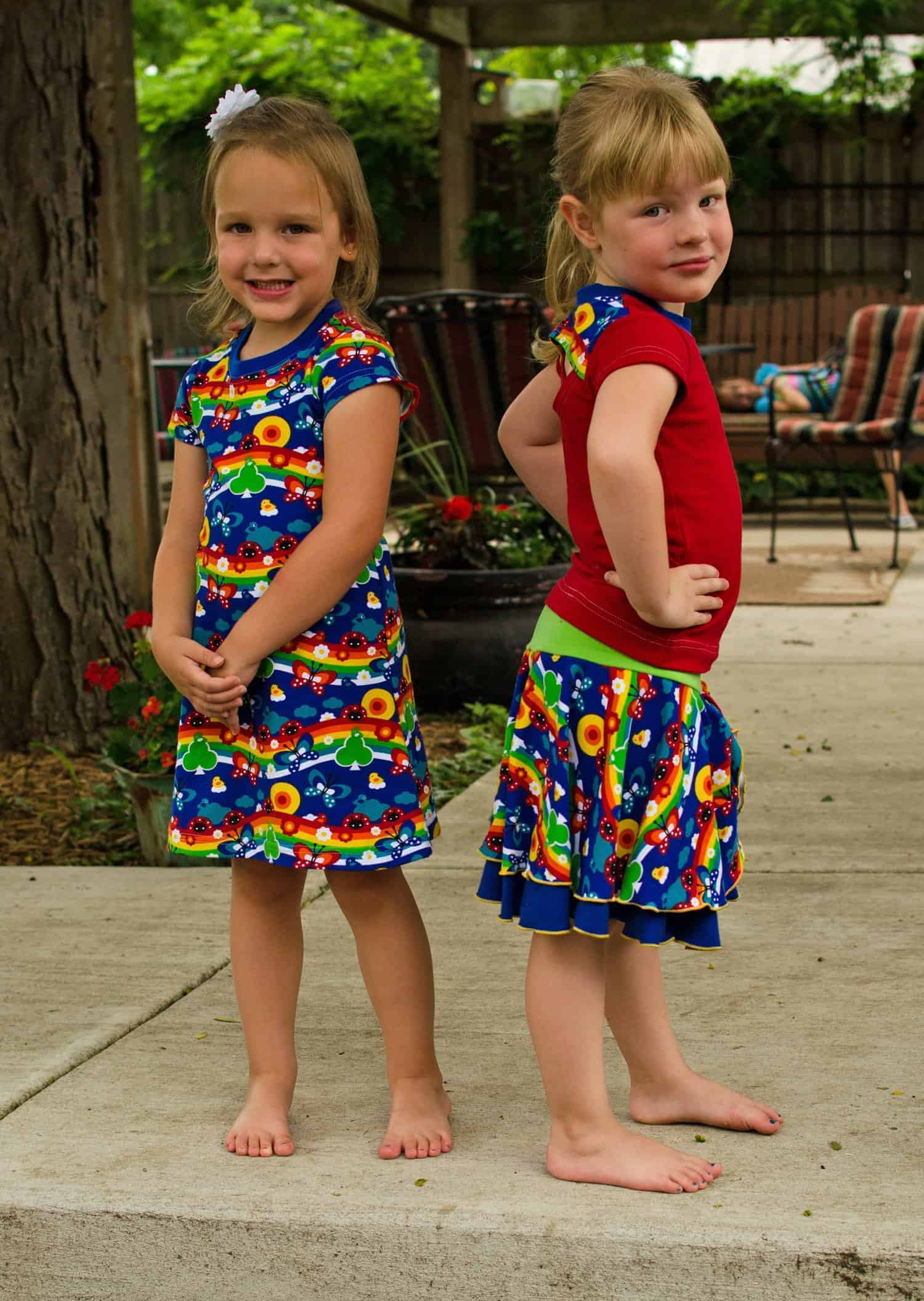 Girls Cartwheel Collection Of Sewing Patterns For Back To