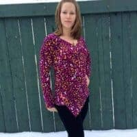 Love Notions WIllow Wrap Top PDF Pattern