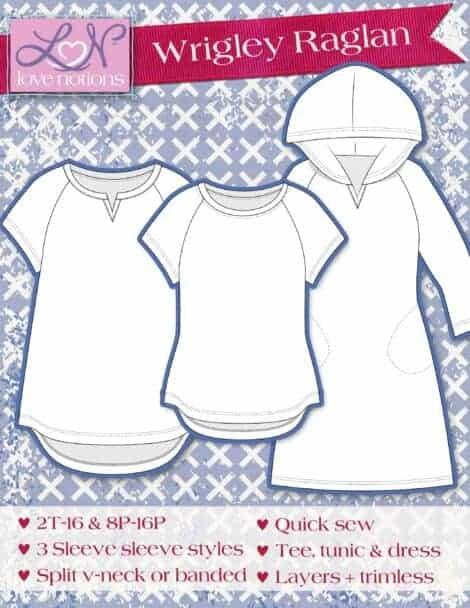 Love Notions Wrigley Raglan and Dress Easy PDF Pattern