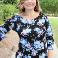 Love Notions La Bella Donna Top and Tunic, quick sew, figure flattering