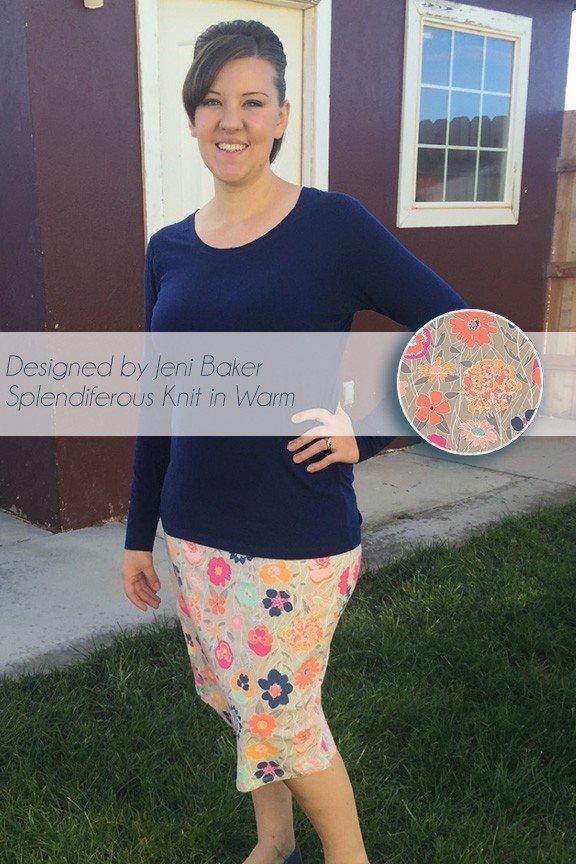 Asymmetrical Wrap Skirt in Jeni Baker's Splendiferous Knit in Warm