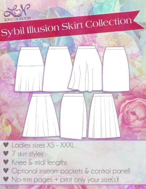 Sybil Illusion Skirt Cover