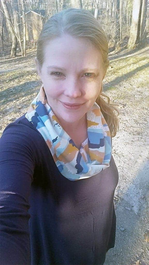 LDT cowl in cotton/lycra