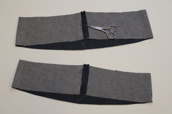 Sabrina Slims waistband step 1