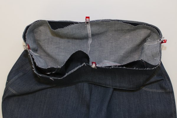 Sabrina Slims waistband step 6