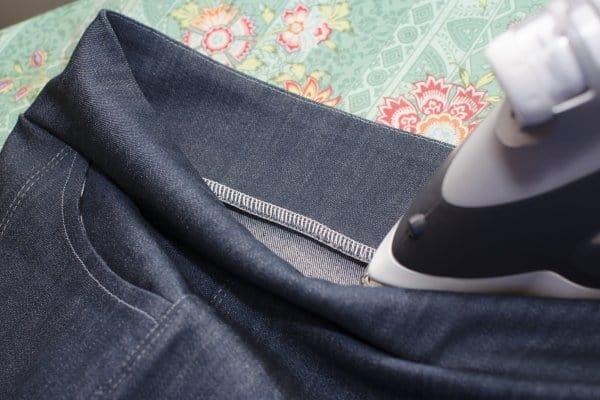 Sabrina Slims waistband step 7