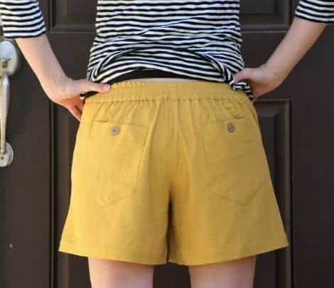 "Back view of the Summer Caye 6"" shorts back"