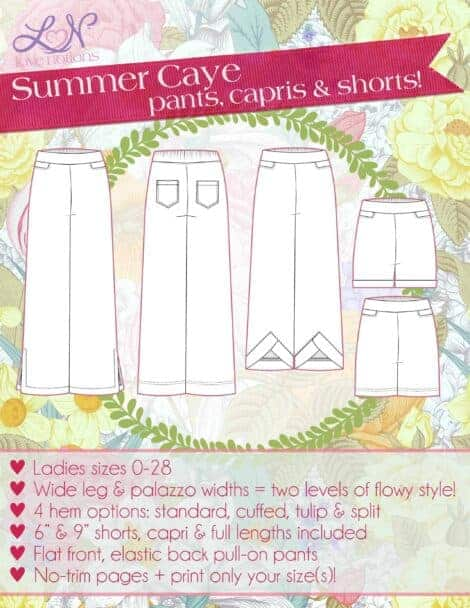 Summer Caye pattern cover ladies
