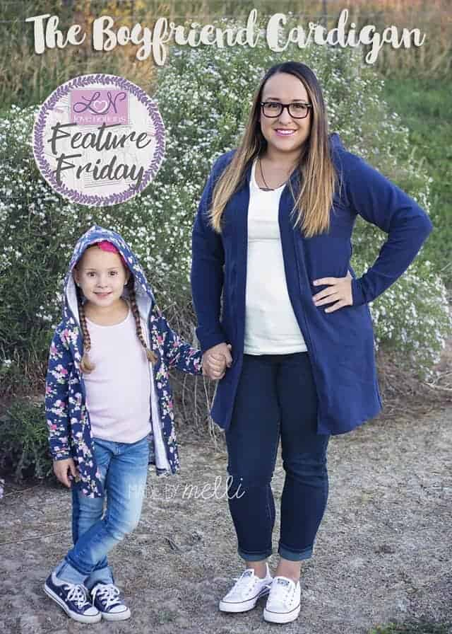Love Notions Boyfriend Cardigan Feature Friday sewn by Made by Melli