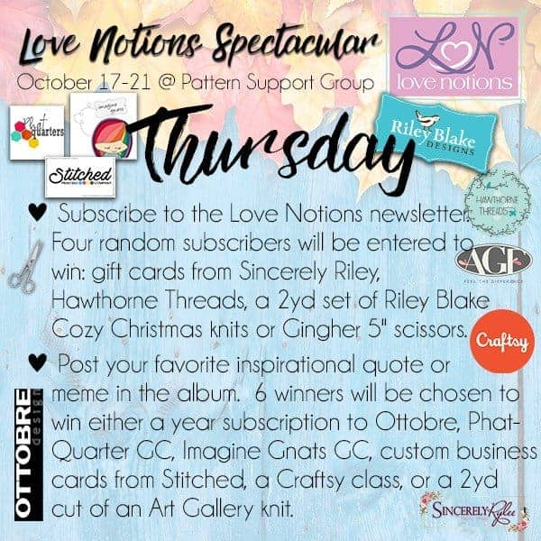 Thursday Love Notions Spectacular