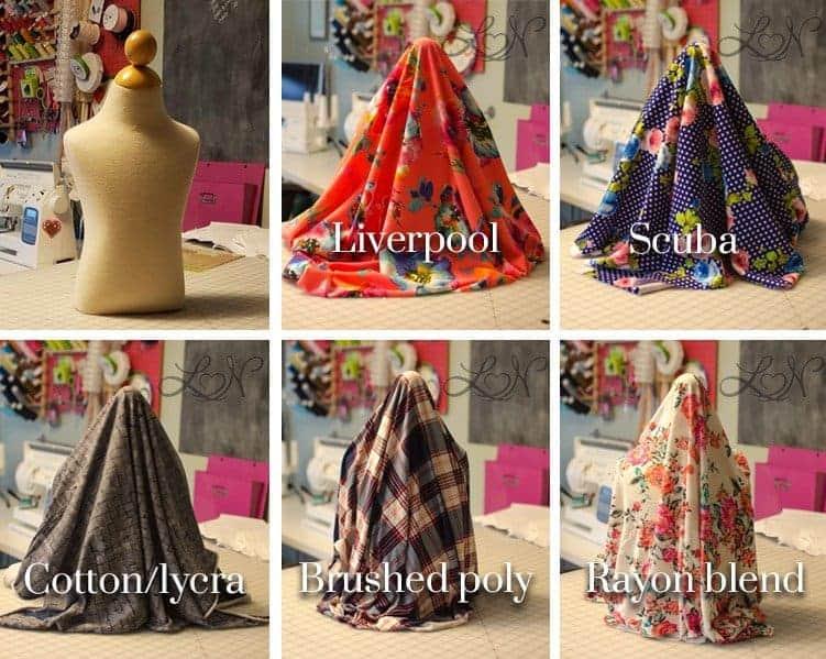 knit fabric drape