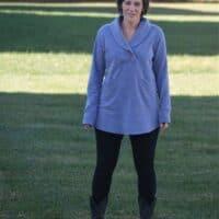 Whistler shawl collar tunic length