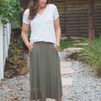 Midi skirt pdf pattern