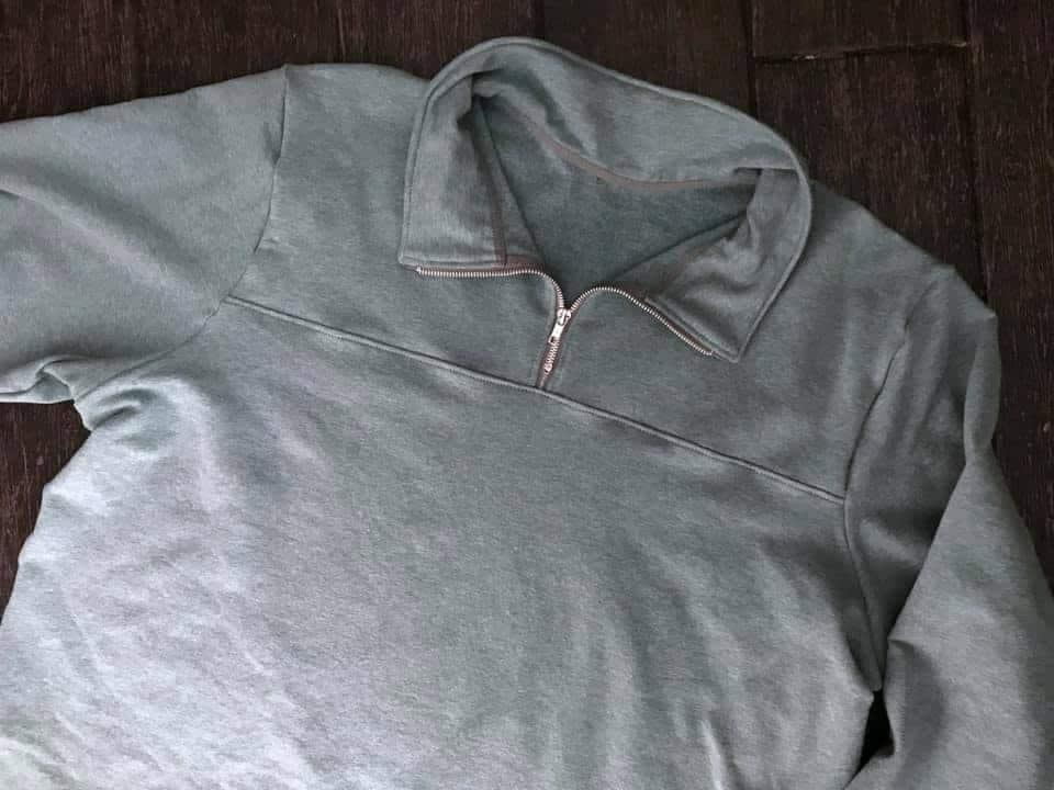 quarter zip pullover tutorial