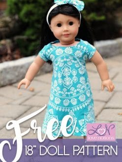 American Girl free swing dress pattern