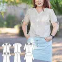 Ballad Blouse from Love Notions PDF sewing patterns