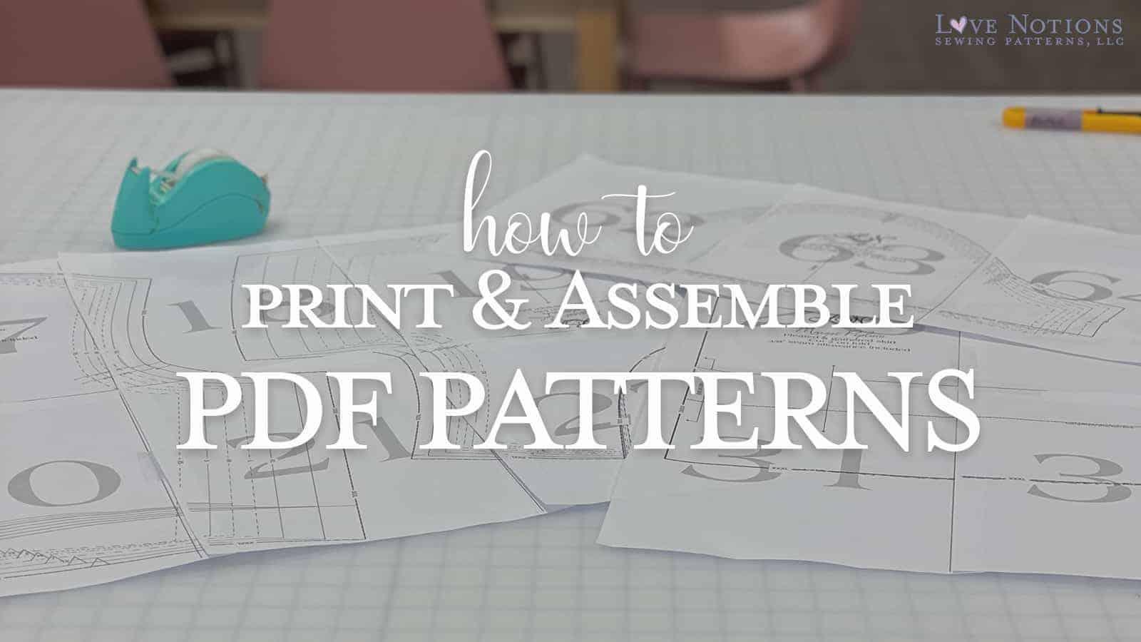 print pdf pattern