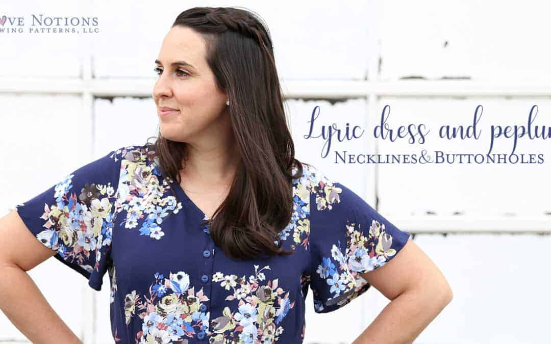 Lyric Peplum: Raised Neckline and Buttonholes