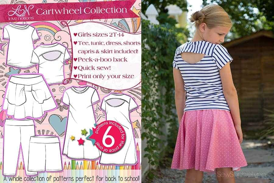 girls capsule sewing pattern collection