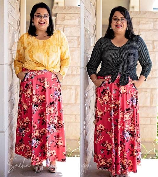 mix prints ravinia skirt