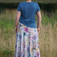 Maxi skirt pattern with pockets