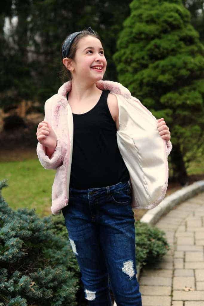 blissful blazer zip faux fur