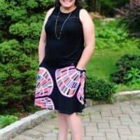 Ravinia knee length skirt pdf pattern