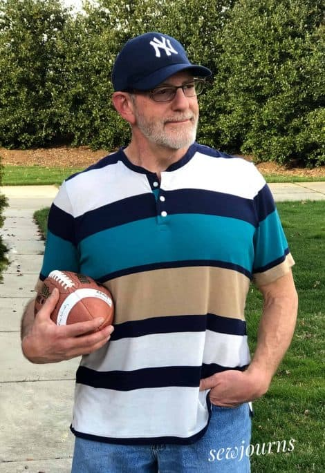 pdf sewing pattern for men's polo, henley, tee shirt