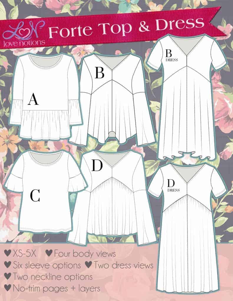 Drapey top pdf pattern