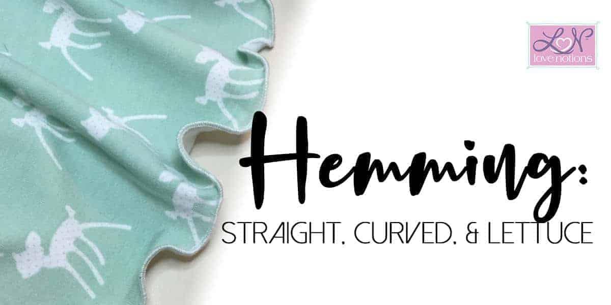 hemming straight curved lettuce