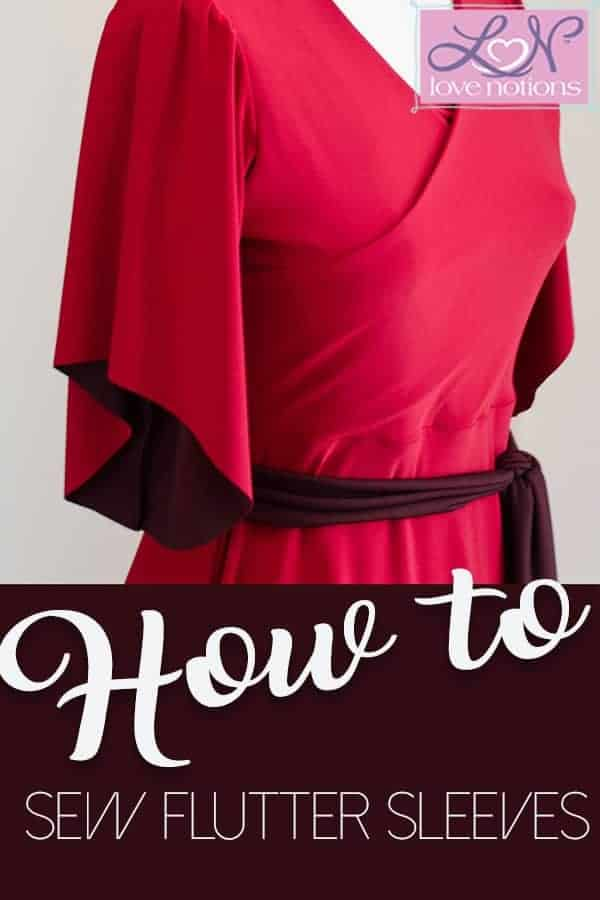 Willow Wrap Dress Pattern Hack: Adding Flutter Sleeves