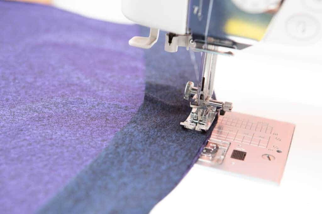 sew binding to front