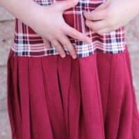 Prisma pleated skirt