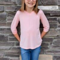 Tee for girls pdf pattern for knits