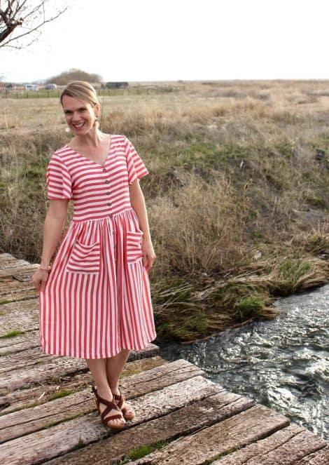 dress and peplum woven sewing pattern