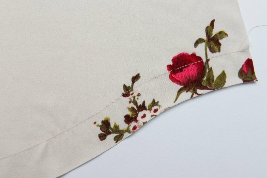 how to do sew a curved hem
