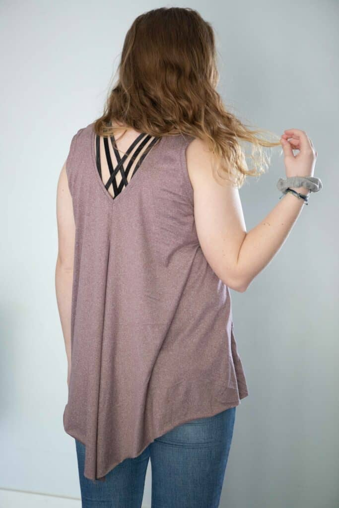 open back athletic shirt tutorial