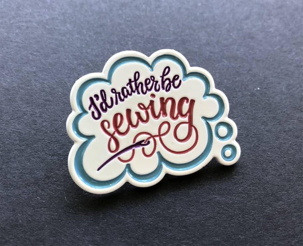 sewing enamel pin