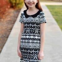 Prisma a-line dress and Peter Pan collar