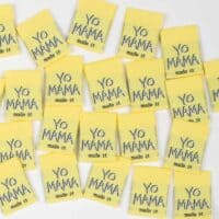 mama made it woven garment labels