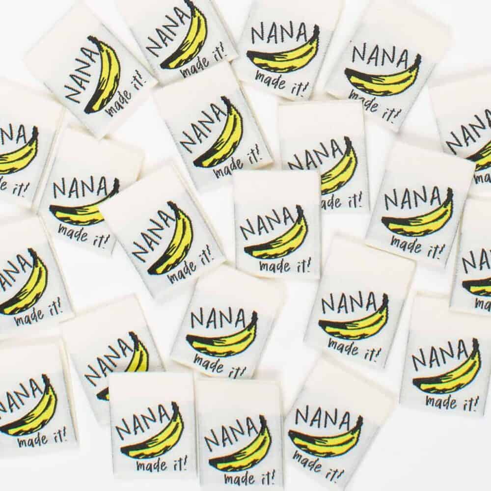 Nana Made It woven garment labels