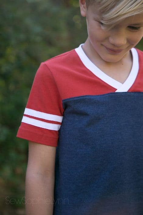 Kids Game Day Jersey pdf pattern