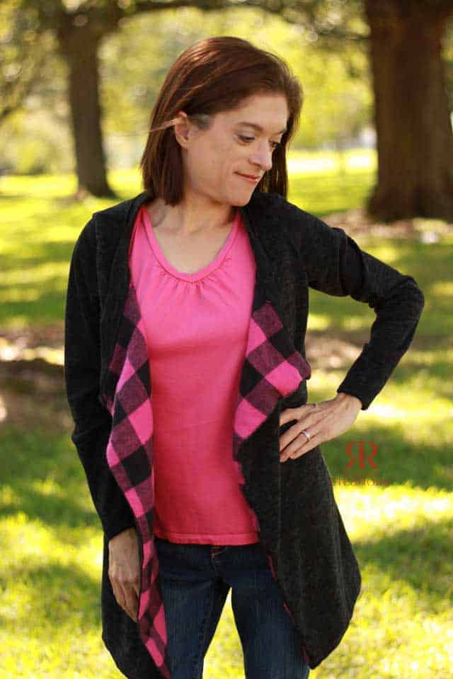 Lined Origami Cardigan1