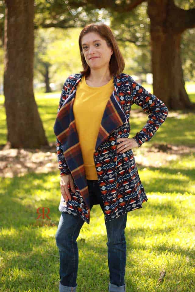 Lined Origami Cardigan2