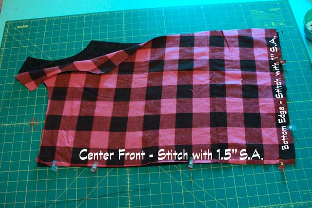 lined cardigan DIY