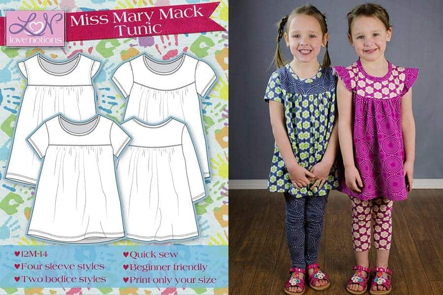 Girls tunic sewing pattern