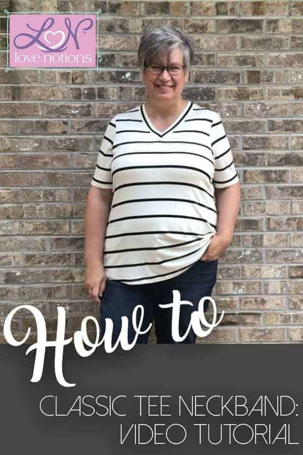 classic tee neckband tutorial