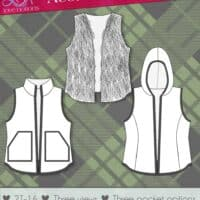 Acorn Vest with doll pattern